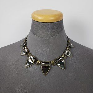 Bronze & Grey Cut Glass Necklace